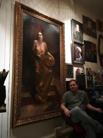 Tim in his studio in November, 2017. Photo by Jeanne G.
